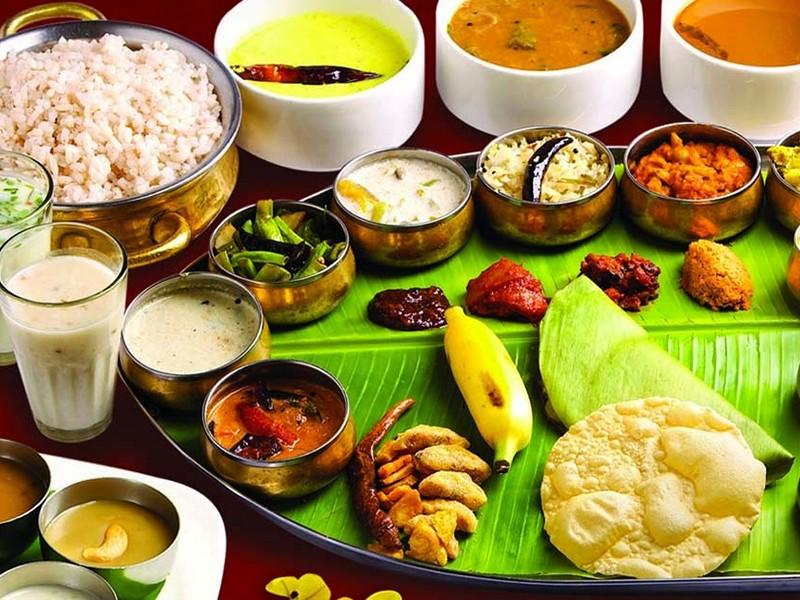 Vegetarian Thali in Munnar